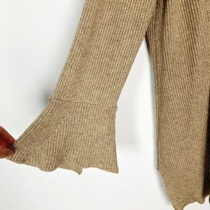H by Halston Sweaters - 🎃 H by Halston Camel Knit Bell Sleeve Cardigan